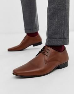 Светло-коричневые туфли на шнуровке с пряжкой KG by Kurt Geiger - Рыжий