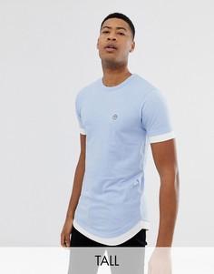 Двухслойная футболка Le Breve Tall - Синий