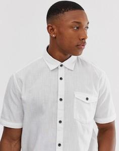 Белая хлопковая рубашка Esprit - Белый