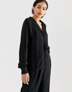 Рубашка в полоску Minimum - Черный