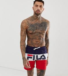 Темно-синие шорты для плавания с логотипом Fila - Темно-синий