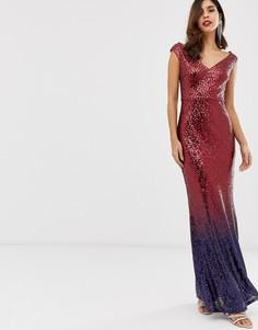 Платье макси с пайетками City Goddess - Красный