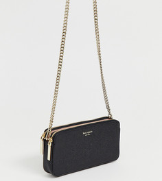 Миниатюрная сумка через плечо с двумя молниями Kate Spade - Черный