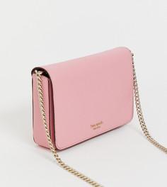 Розовая сумка через плечо с ремешком-цепочкой Kate Spade - Розовый