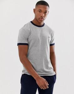 Серая футболка с контрастной окантовкой Jack Wills Baildon - Серый