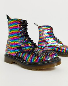 Ботинки с отделкой пайетками Dr Martens 1460 - Мульти