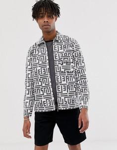 Джинсовая куртка на молнии с логотипом Nudie Jeans Co - Sten - Белый