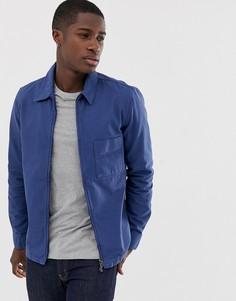 Синяя выбеленная куртка на молнии Nudie Jeans Co - Sten - Синий