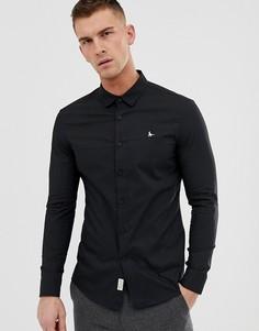 Черная облегающая стретчевая рубашка из поплина Jack Wills - Черный