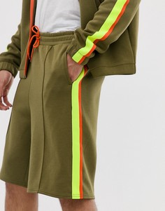 Трикотажные шорты цвета хаки Weekday Day - Зеленый