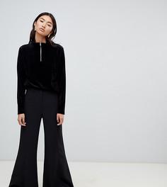 Расклешенные брюки Weekday - Черный