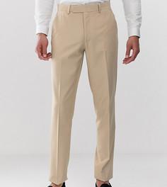 Светло-коричневые узкие брюки ASOS DESIGN Tall - Бежевый