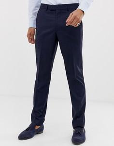 Темно-синие узкие брюки в мелкую клетку Harry Brown - Темно-синий