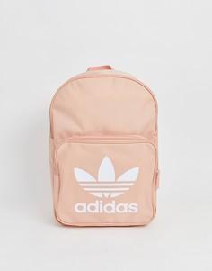 Розовый рюкзак с логотипом-трилистником adidas Originals - Розовый