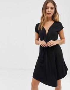 Черное платье с запахом Brave Soul - Черный