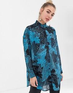 Рубашка с принтом Monki - Мульти