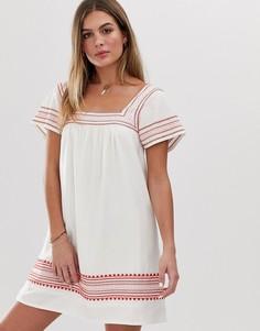 Свободное платье с вышивкой Jack Wills Heatherington - Белый