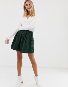 Вельветовая юбка Moves By Minimum - Зеленый