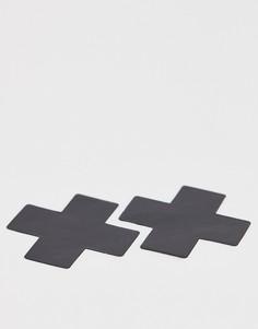 Бежевые виниловые наклейки на соски Nipztix By Neva - Черный