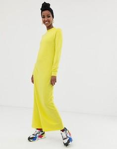 Трикотажное платье макси ASOS DESIGN - Зеленый