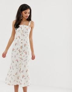 Платье миди с цветочным принтом Finders Keepers Frankie - Мульти