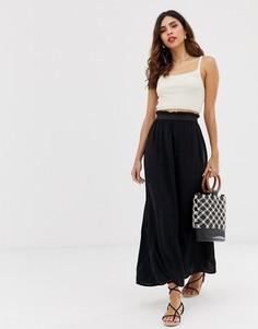 Трикотажная юбка макси Vero Moda - Черный