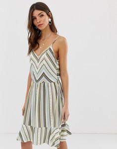 Платье в полоску с открытой спиной Vila - Мульти