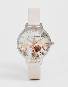 Часы с мраморным принтом и кожаным ремешком Olivia Burton OB16CS21 - Розовый