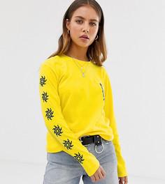 Желтый лонгслив Reclaimed Vintage inspired - Желтый