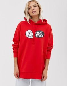 Худи из органического хлопка с логотипом-черепом Cheap Monday - Красный