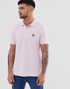 Однотонная футболка-поло Lyle & Scott - Фиолетовый