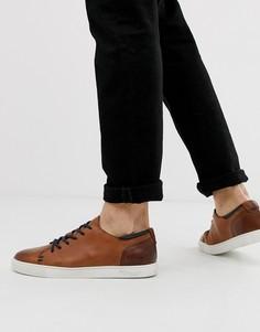Светло-коричневые кожаные кроссовки Goodwin Smith - Рыжий