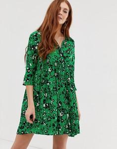 Платье-рубашка мини BA&SH Erine - Зеленый