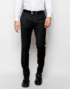 Зауженные брюки под смокинг ASOS - Черный