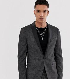 Приталенный пиджак в полоску Heart & Dagger - Черный