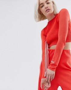 Укороченный лонгслив adidas Originals - Красный