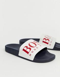 Шлепанцы с логотипом BOSS - Синий