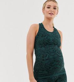 Спортивный топ для беременных со змеиным принтом Mamalicious - Мульти Mama.Licious