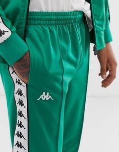 Зеленые узкие джоггеры с фирменной лентой Kappa Banda - Astoria - Зеленый