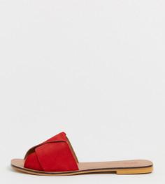 Кожаные сандалии для широкой стопы ASOS DESIGN - Красный