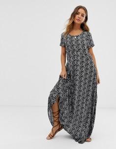 Платье макси с цветочным принтом Raga - Wild Love - Черный