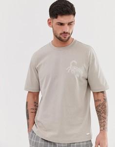 Светло-бежевая футболка со скорпионом BOSS TimesNR - Светло-бежевый