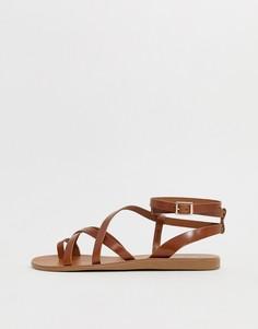 Кожаные сандалии с ремешками ALDO Gludda - Рыжий