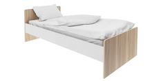 Кровать односпальная 190х90 Акварель (ясень песочный/белый) Home Me