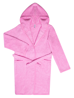 халат для девочки махровый розовый Barkito