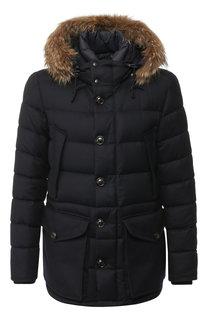 Пуховая куртка rethe на молнии с меховой отделкой капюшона