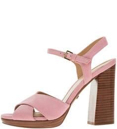 Босоножки Розовые замшевые босоножки на каблуке Michael Kors