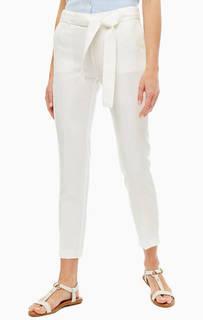 Брюки Белые брюки с добавлением льна Stefanel