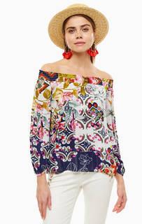Блуза из вискозы с открытыми плечами Desigual