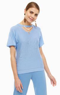 Джемпер Синий джемпер с короткими рукавами Stefanel